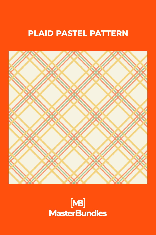 Plaid pastel pattern.