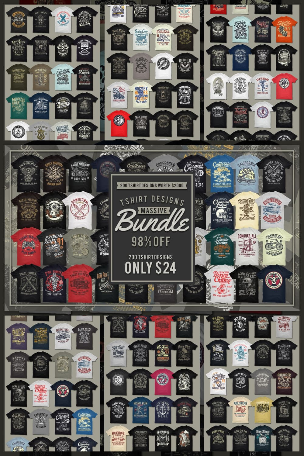 A selection of T-shirts for every taste and pocket.