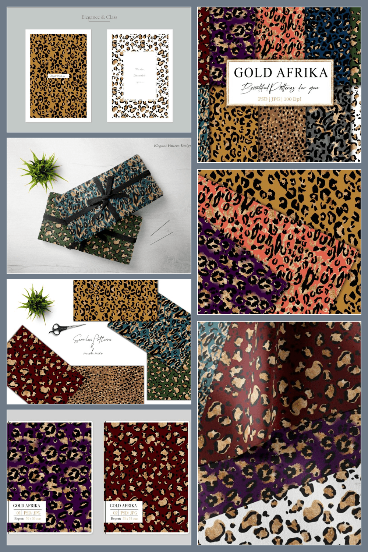 Gold Africa animals print.