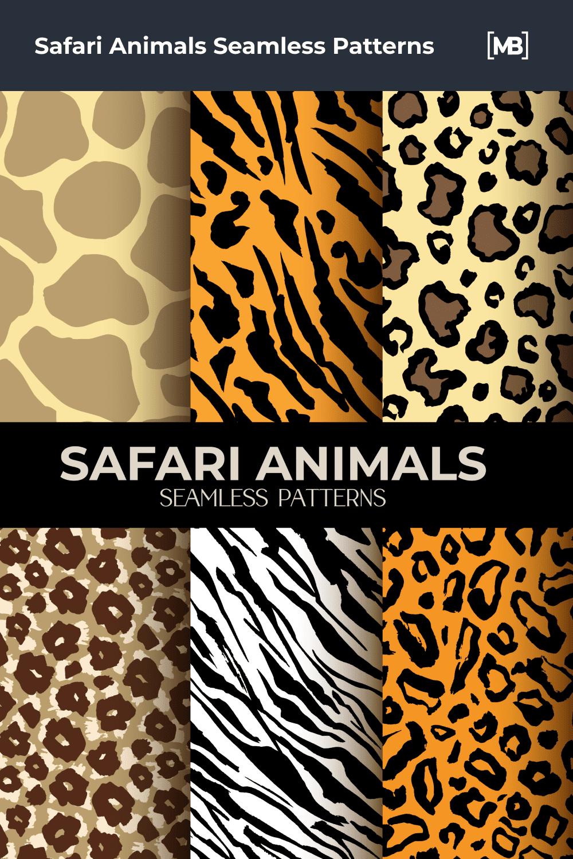 Safari Animals Seamless Patterns.