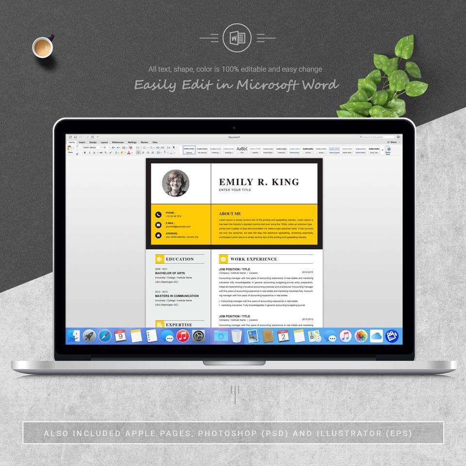 Desktop option of this template. Resume Template / CV Template.