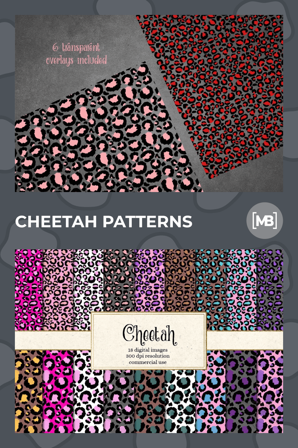 Colors diverse in animal prints.