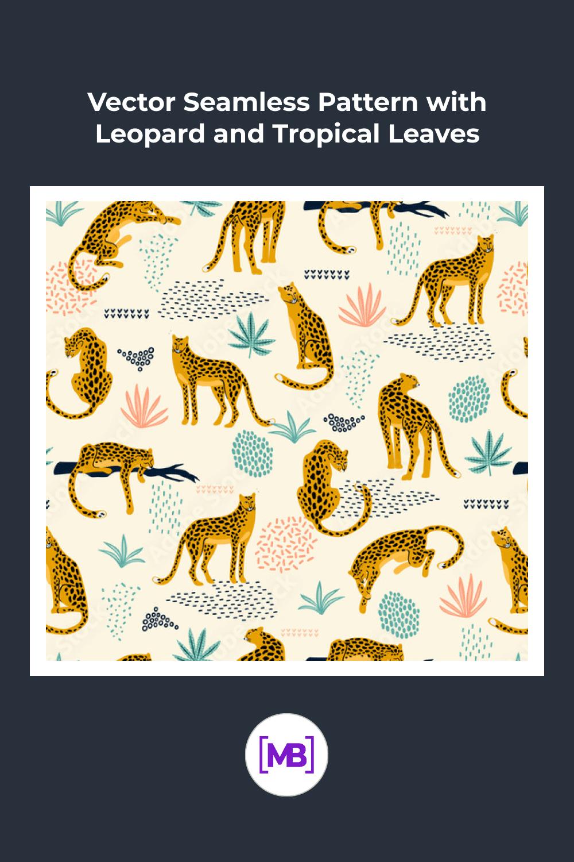 Leopard in tropical nature.