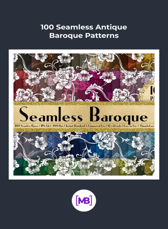 Flowers baroque patterns.