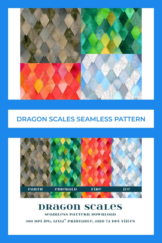 Watercolor dragon scales.