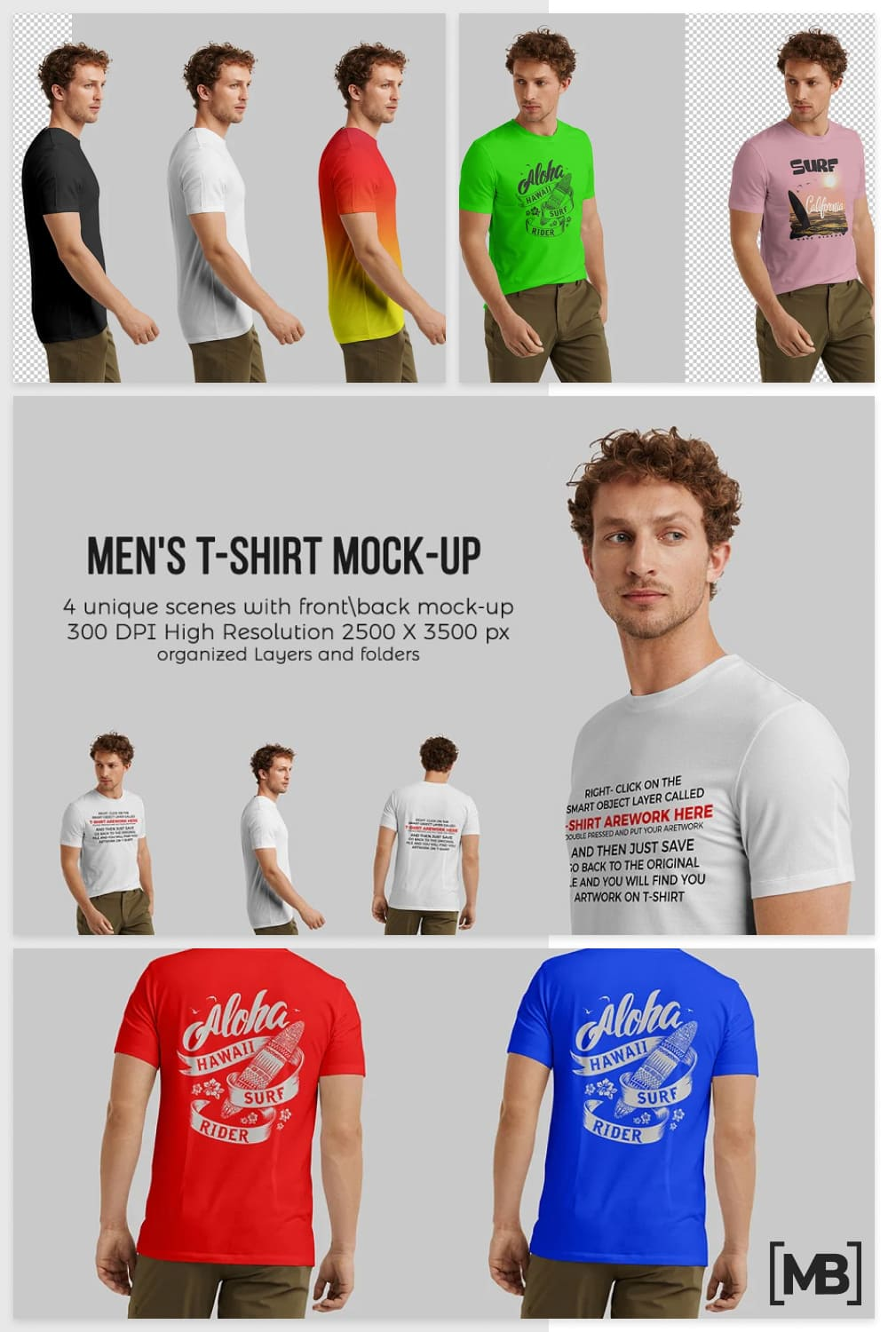 T-shirts for men in different lengths and styles.