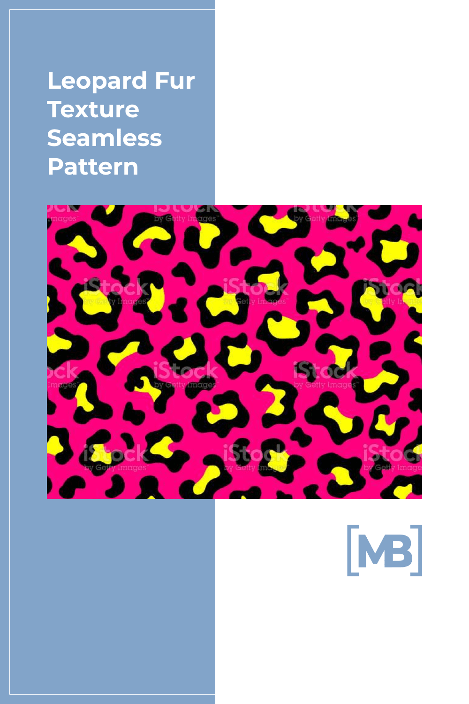 Leopard fur texture seamless pattern.
