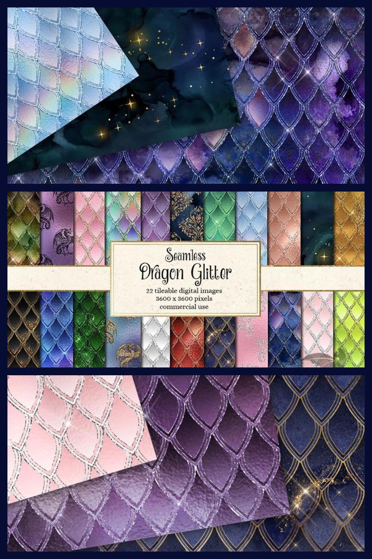 Glitter and vivid dragon scales.
