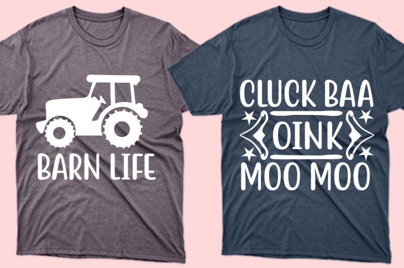 A person can identify himself through clothing. These pastel-colored T-shirts and tractor-themed images tell you right away that you're in the agro industry.