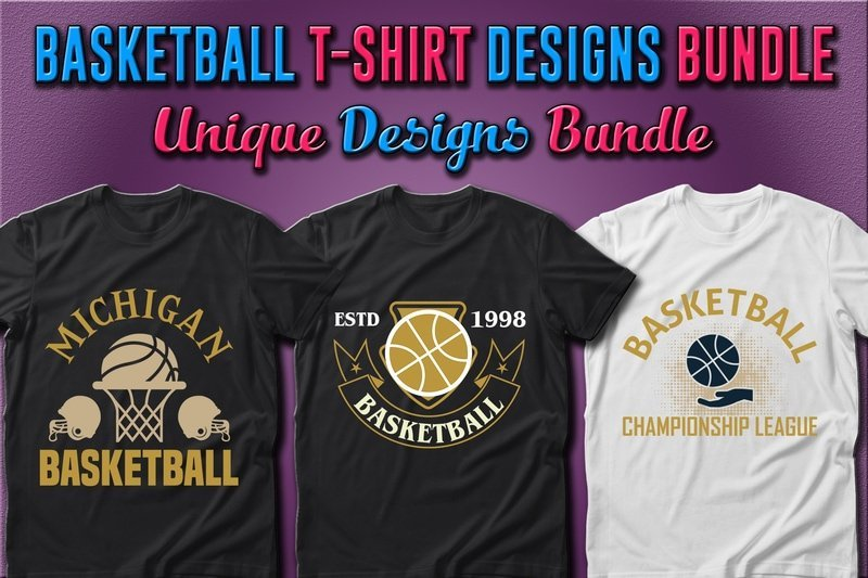 T-shirts with a golden ball and a hit ring.