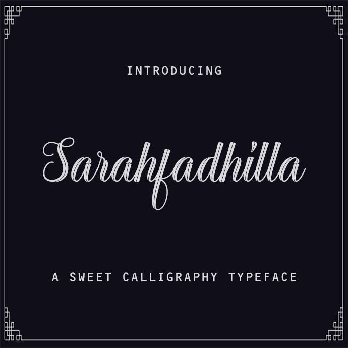 Sarahfadhilla Modern Calligraphy.