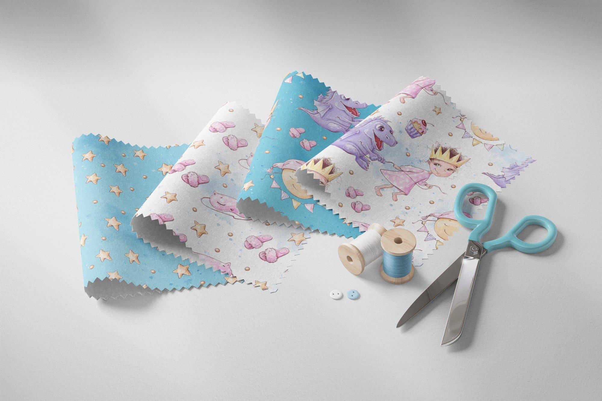 Part of fabrics of pajamas.
