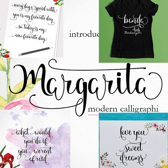Margarita Handwritten Font cover image.