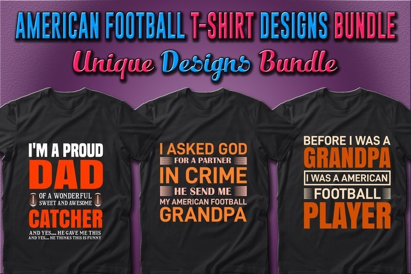 Good quality black jerseys with American football slogans and vibrant graphics.