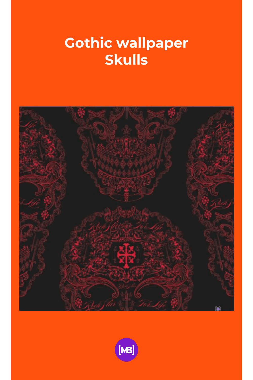 Gothic Wallpaper Skulls.