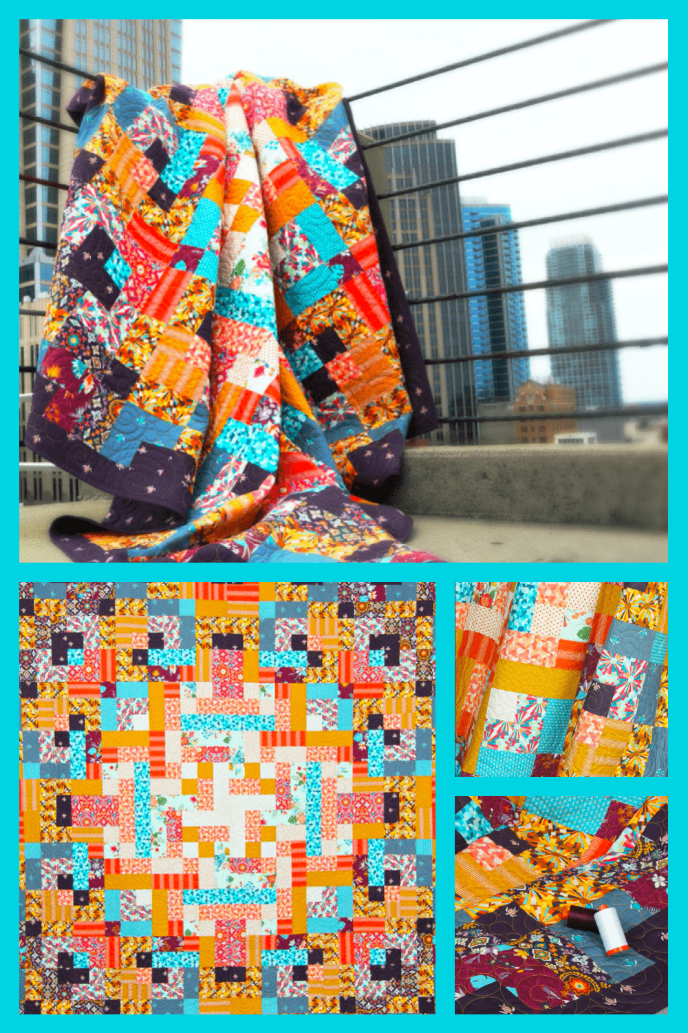 Bright scarves that created a complete and beautiful combination.