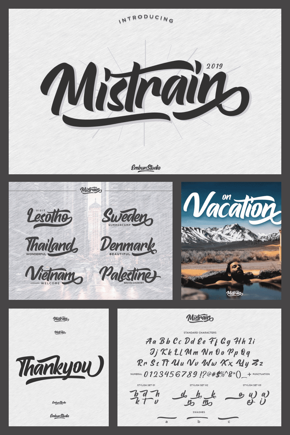 Mistrain is modern hand lettering typeface, elegant and classy for your every project.