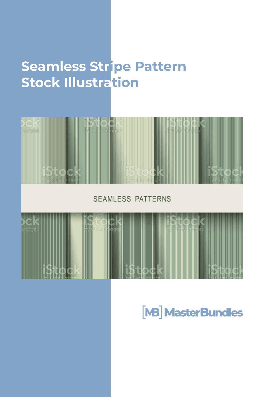 Seamless stripe pattern stock illustration.