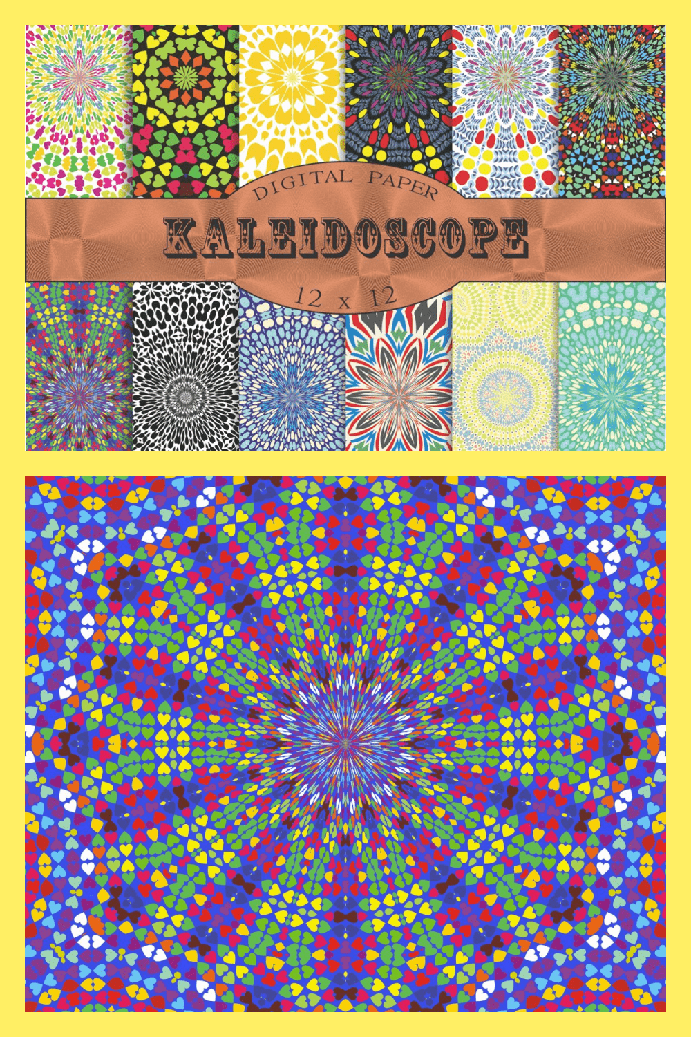 Collection of Kaleidoscope Patterns.