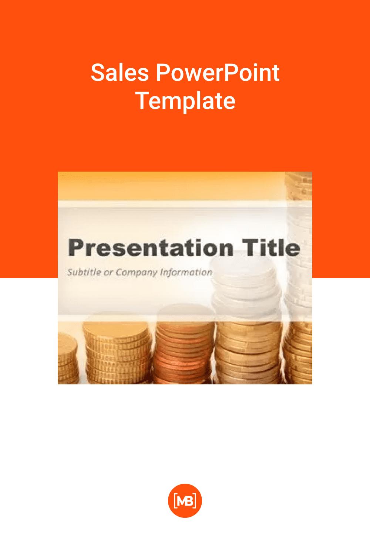Modern sales PowerPoint Template.