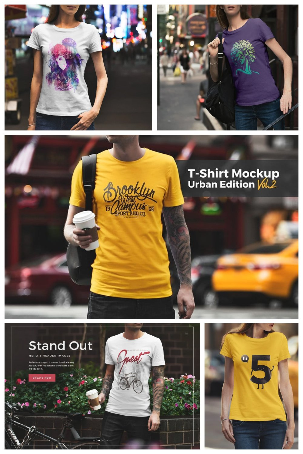 These t-shirts for urban life style.