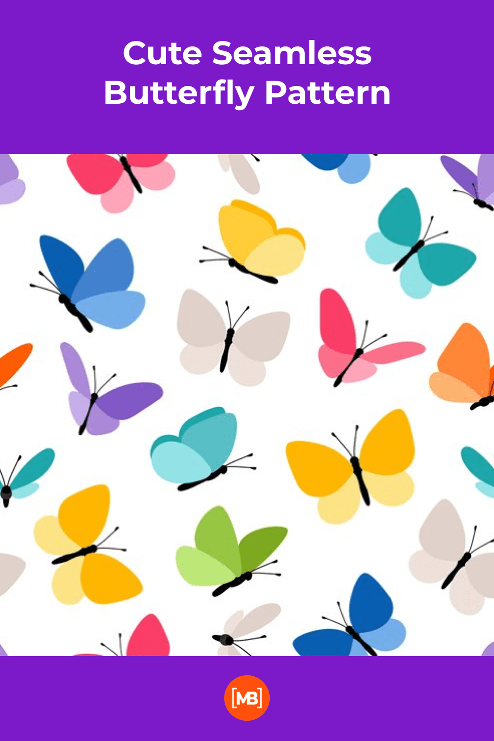 Cute and bright butterflies.