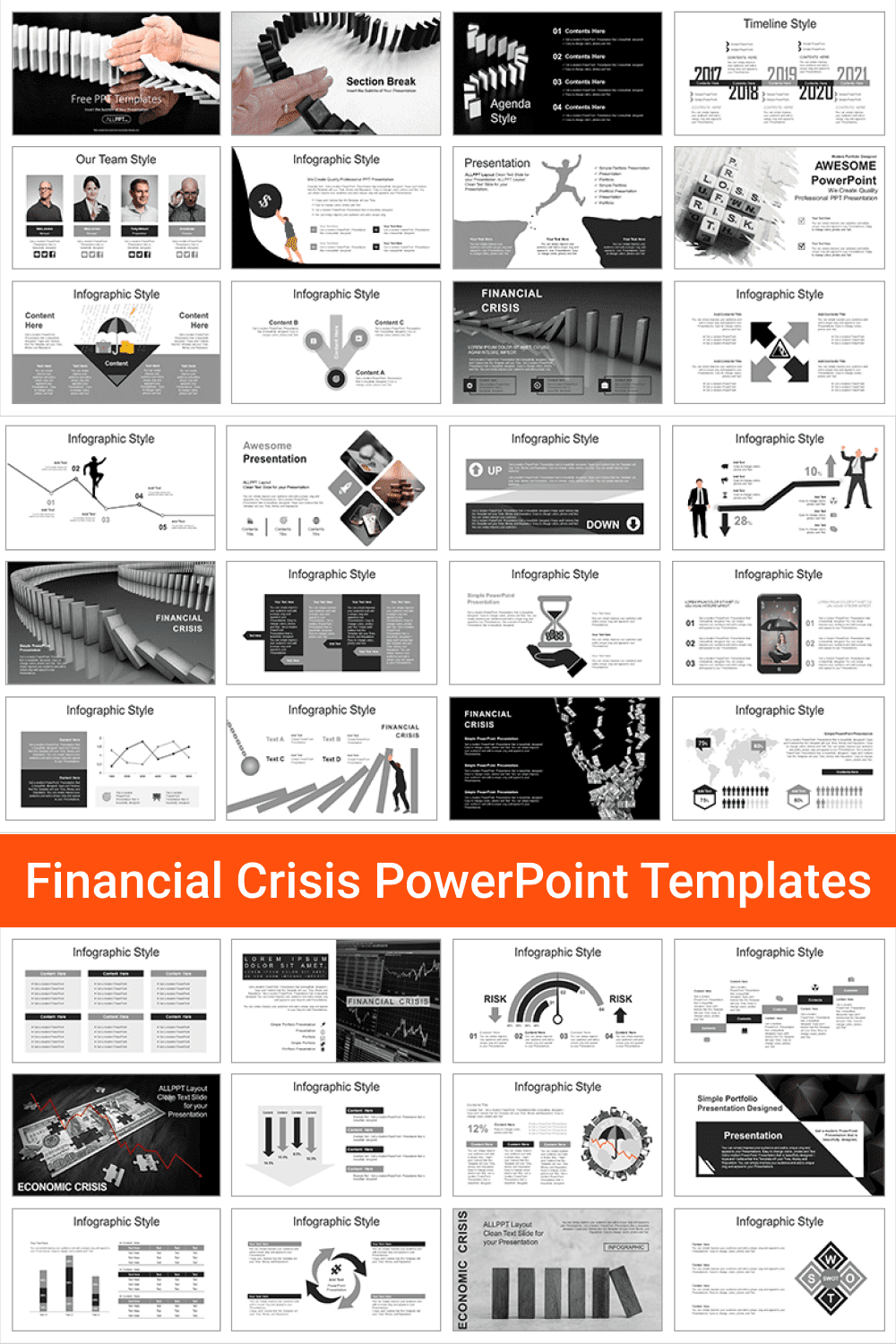 Financial Crisis PowerPoint Templates.