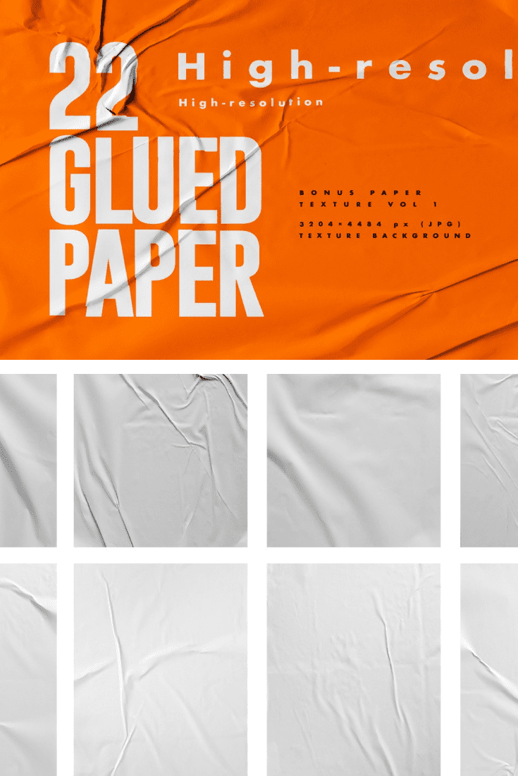 Delicate paper with a wrinkled effect.