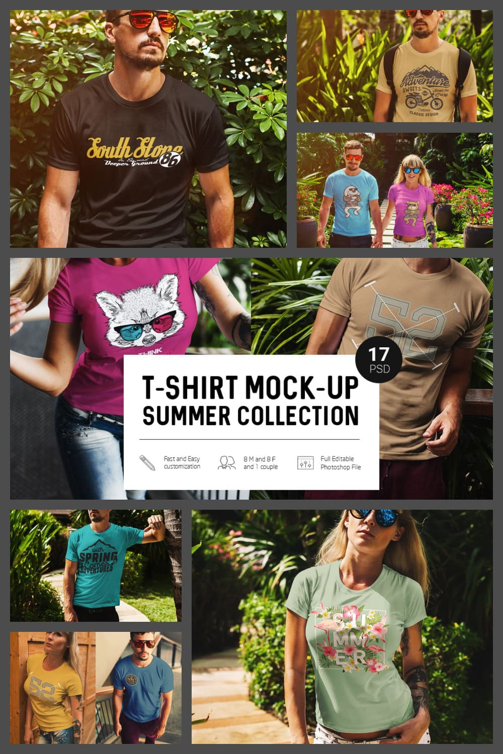 Big t-shirts collection for hot summer.
