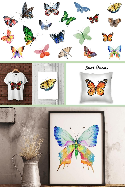Naturally vivid butterflies.