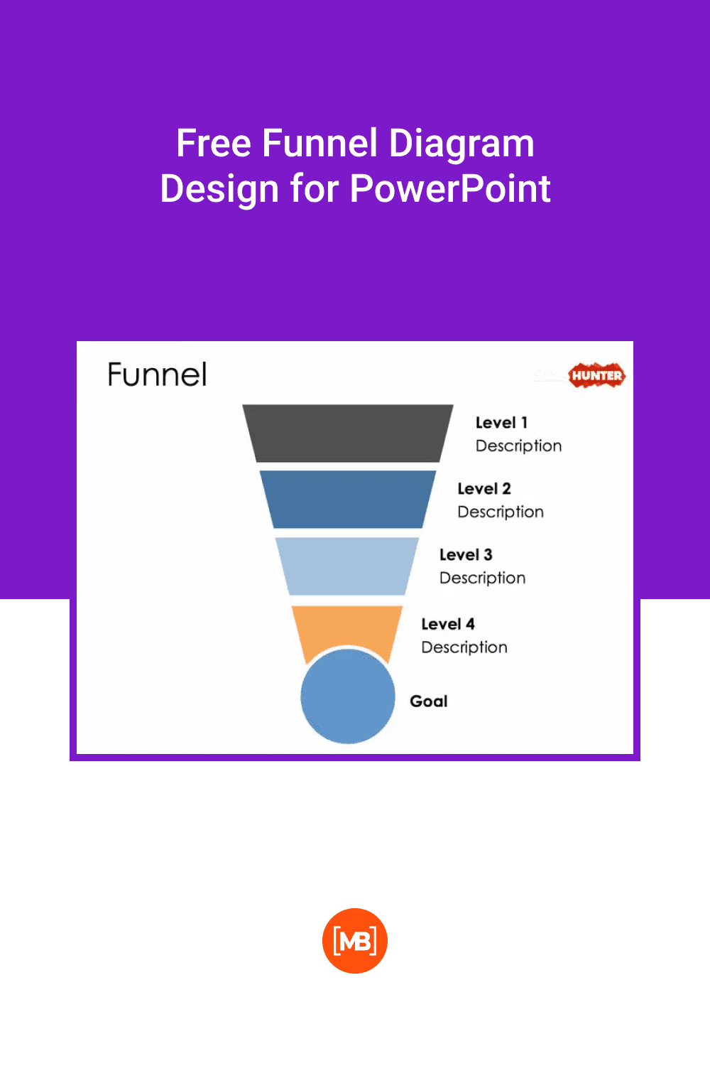 Free Funnel Diagram Design for PowerPoint.
