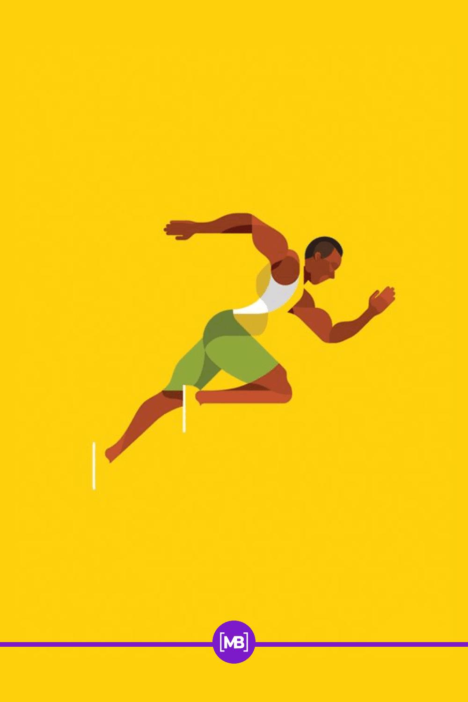 Minimalistic sport illustration.