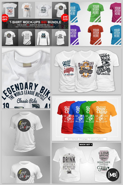 T-shirts with stylish illustration.