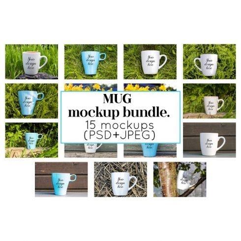 Coffee Mug Mockup Bundle Example.