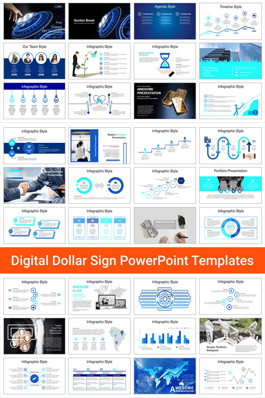 Digital Dollar Sign PowerPoint Templates.
