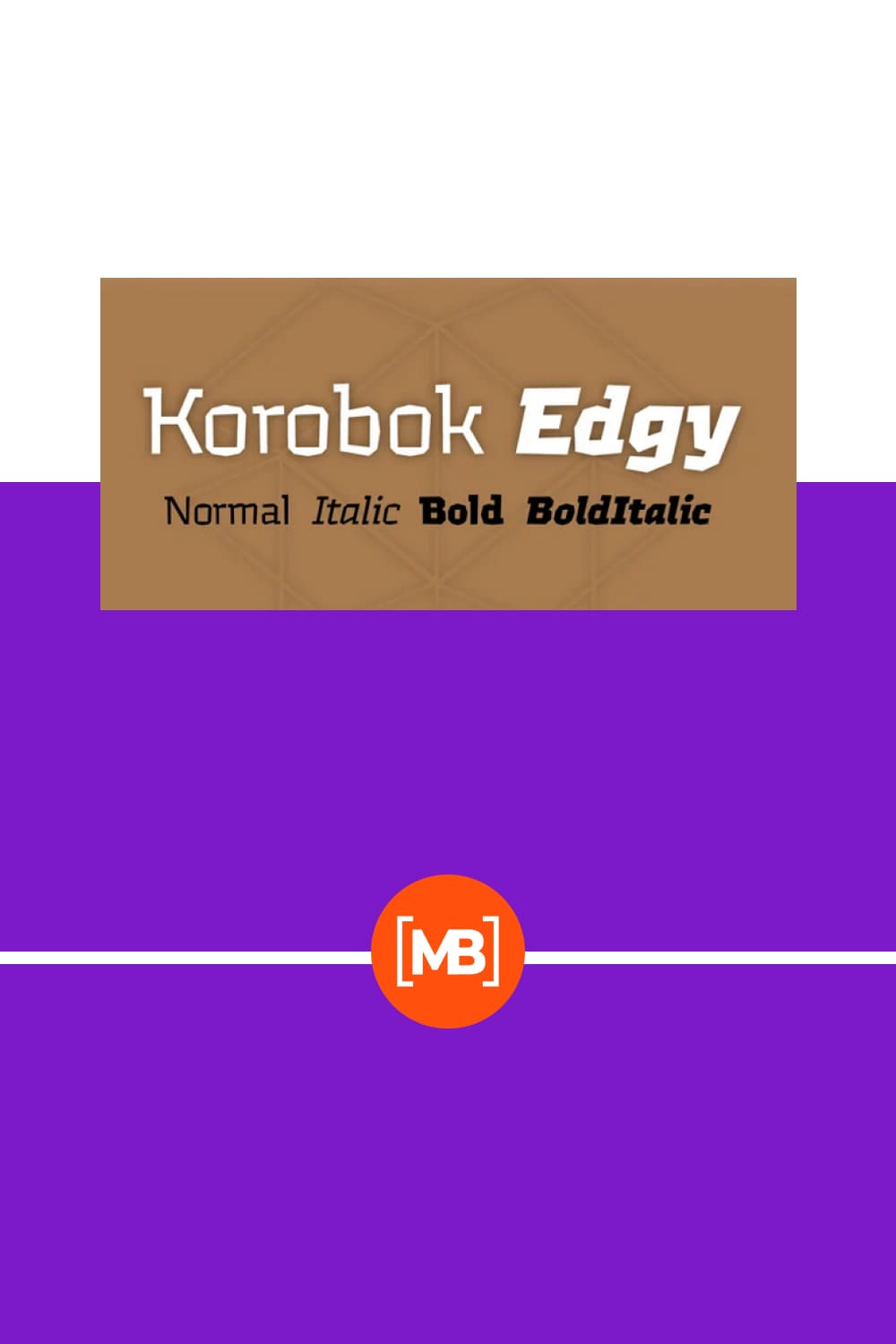 Korobok is irregular font with asymmectric serifs and slightly geometric appearance.