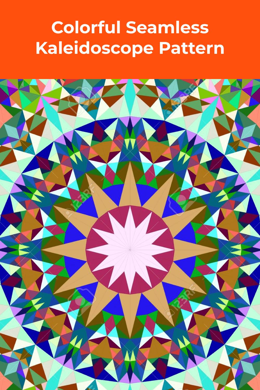 Vibrant geometric shapes.