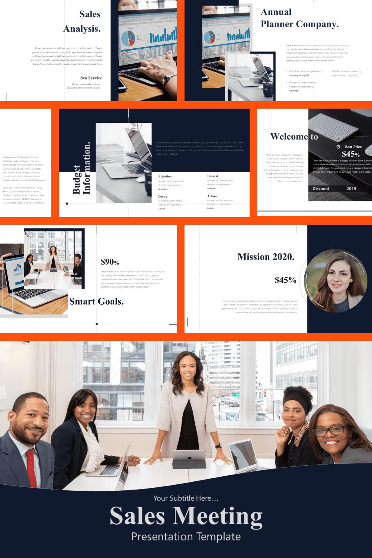 Sales Meeting PowerPoint Template.
