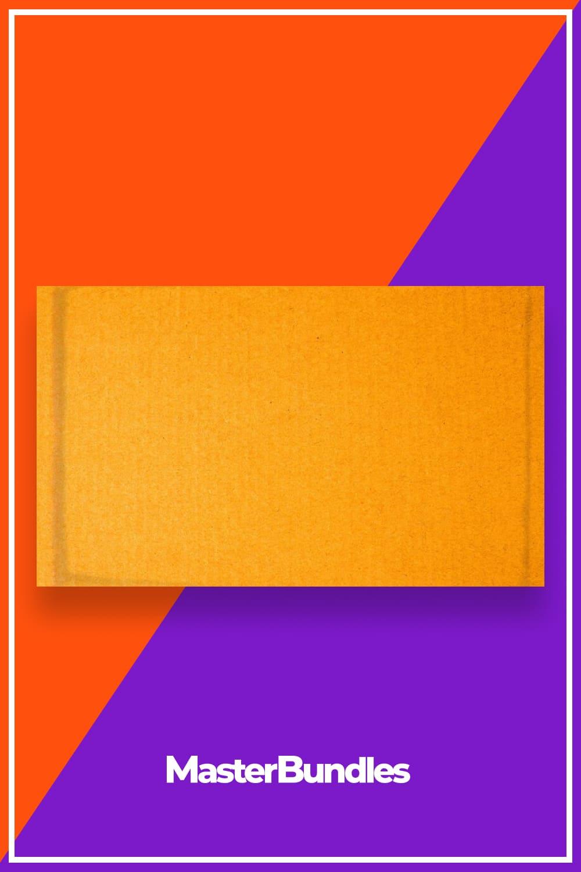 Texture of Orange Cardboard Paper Sheet.