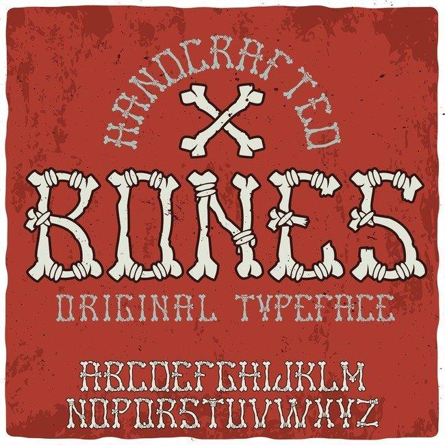 Bones Typeface main cover.