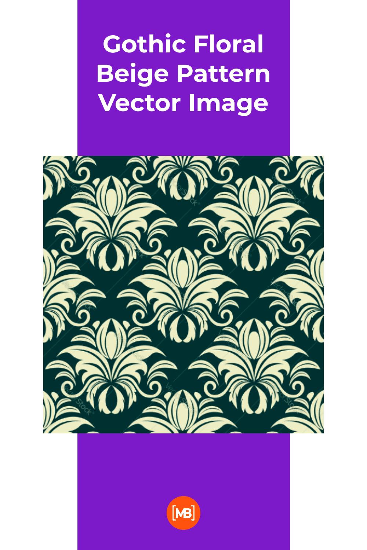 Gothic Floral Beige.