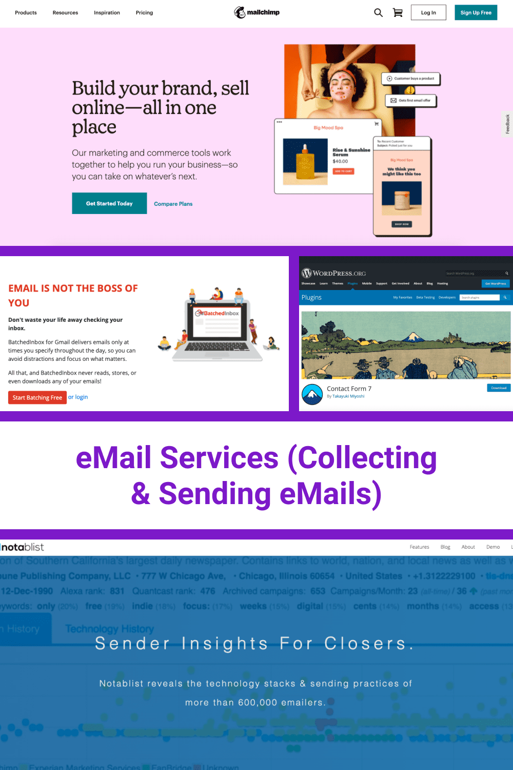 eMail Services (Collecting Sending eMails).