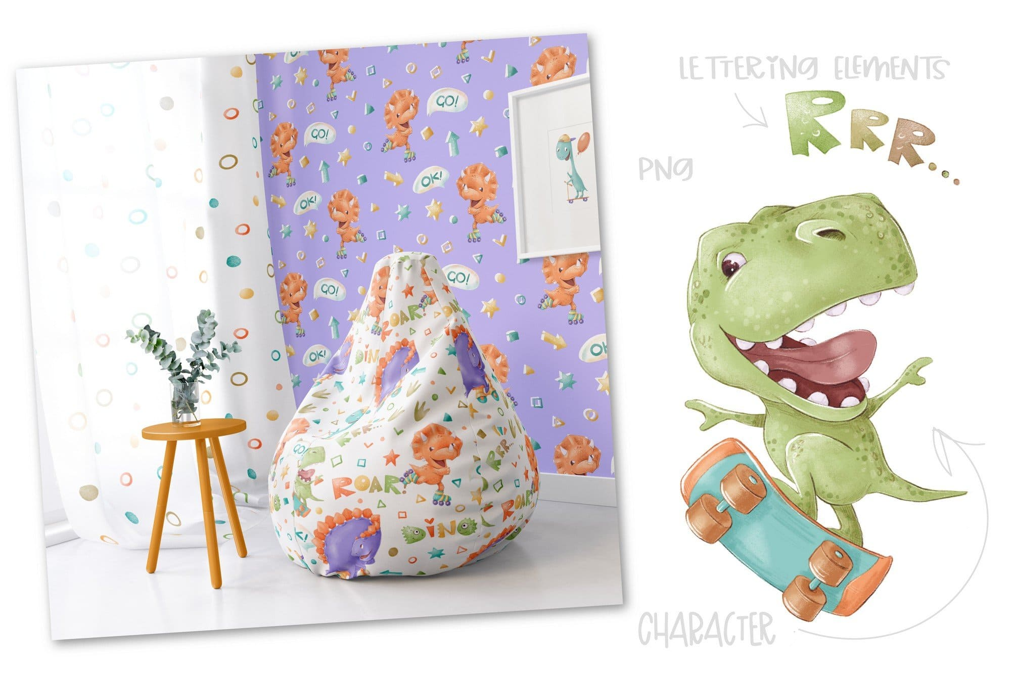 Illustrations for furniture.