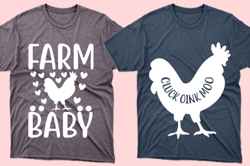 The original images of the chicken on the T-shirt.