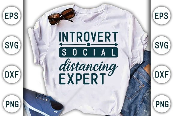 White t-shirt about social distance.