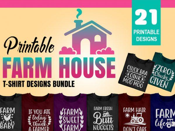 Title slide of farm house t-shirt designs.