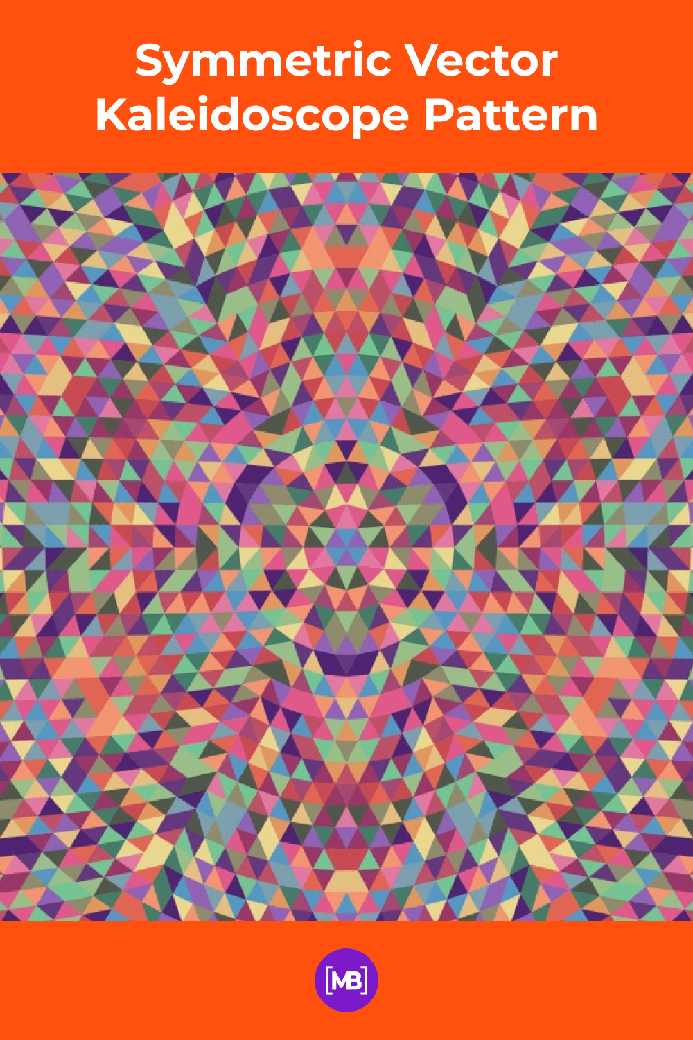 Colorful mosaic in geometric lines.