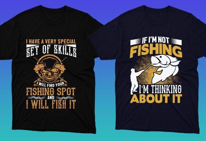 Creative graphics in fishing topic.