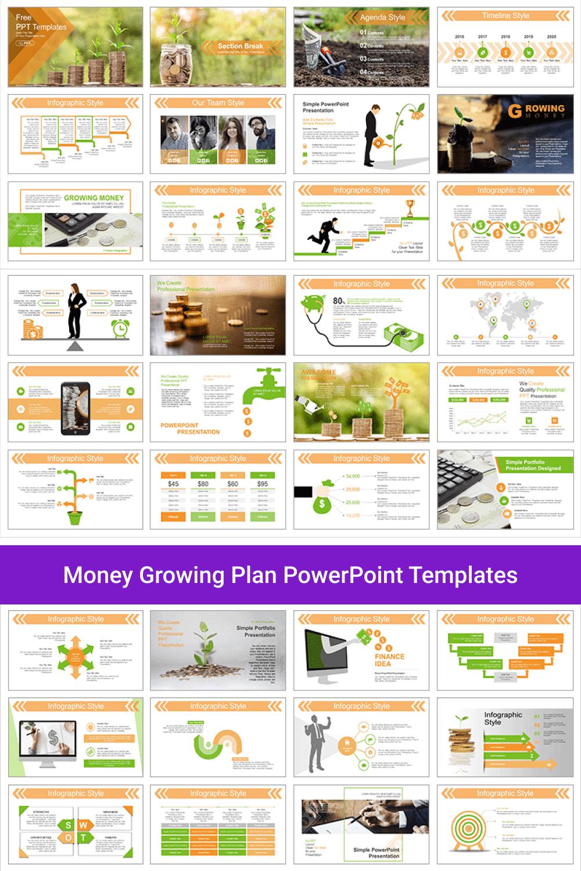 Money Growing Plan PowerPoint Templates.