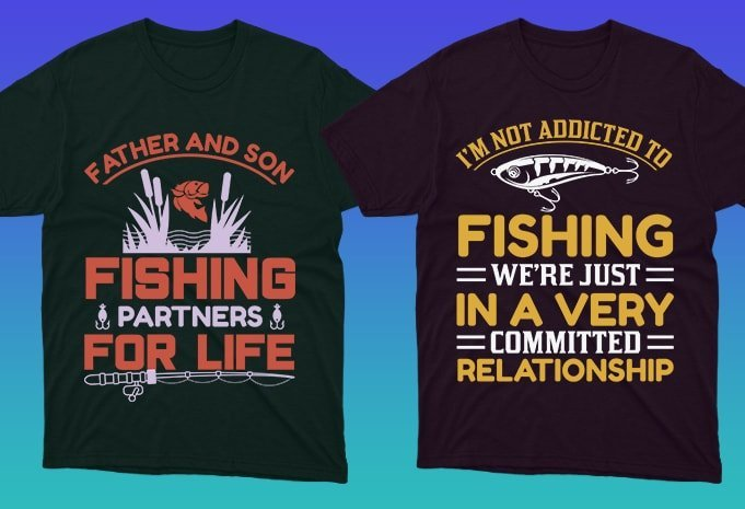 Dark t-shirts with quality graphics and colorful fonts.